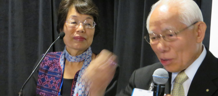 Past President of Rotary International, Sakuji Tanaka and Rotarian Noko Yoshida